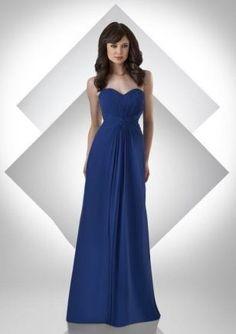 Discount Chiffon Strapless Sweetheart Long Bridesmaid Dress Free Measurement