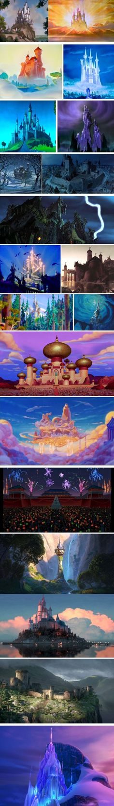 different disney castles