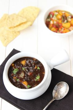 ( US ) Black Bean And Pureed Roasted Red Bell Pepper Soup - Recipe at cali-zona