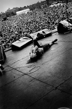 "Soulcatcher Studio: Charles Peterson | Charles Peterson ""Eddie Vedder, Drop in the Park, Seattle, 1992"""