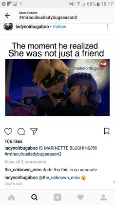 I personally think this is the moment he guilt tripped her into being nice to him as Ladybug. Clueless little cinnamon rolls!