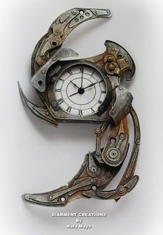 Steampunk clock‪✖️Fosterginger.Pinterest.Com✖️No Pin Limits✖️More Pins Like This One At FOSTERGINGER @ Pinterest ✖️‬