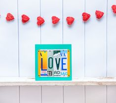 A simple and classic Valentine gift appropriate to give your spouse, boyfriend, girlfriend or even child. An affordable piece of art created from recycled license plates, that can be customized to include specific states that you can request.  Production time is 1-2 weeks, but Rush Service is available for an added fee if needed. You can click on this listing for all the details:  https://www.etsy.com/listing/130674085/rush-my-order-your-sign-will-finish?ref=sho...