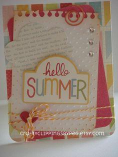 Echo Park Hello Summer card