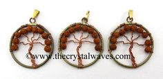 Rudraksha Beads Copper  Tree Of Life Pendant