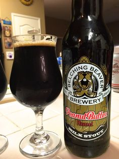 Belching Beaver Peanut Butter Milk Stout #beer #brewing #brewery