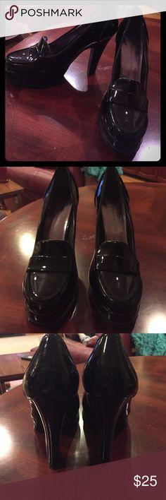 Black high heel pumps Shinny black high heel pumps. Closed toe. 4 1/4 heel height Boston Design Studio Shoes Heels