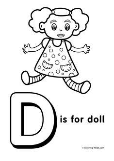 Letter D coloring page - alphabet coloring pages, alphabet activities, alphabet letters, printable, letter worksheets