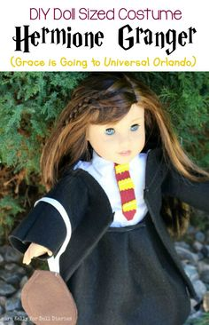 43 Ideas Sewing Projects Harry Potter American Girls For 2019 American Girl Doll Costumes, American Girl Crafts, American Girls, Harry Potter Dolls, Harry Potter Cosplay, Universal Harry Potter Orlando, Sewing Patterns Free Dog, Hermione Costume, Harry Potter Printables