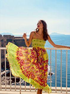 Ibiza Fashion, Smocking, Tie Dye Skirt, Bodice, Summer Dresses, Skirts, Tassel, Spaghetti, Cold