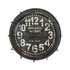 Relógio com Grade Antique Paris Oldway - 64x10 cm