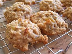 Banana Oat cookies...a change from my typical Banana Bread answer when faced with the ? what to do with rotten bananas...