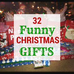 32 #Funny #Christmas Gifts! Looking for a funny Christmas gift for your friend, boyfriend, girlfriend, brother, sister, or Secret Santa? With everything from silly gifts to downright strange gifts, these 32 funny #ChristmasGifts will definitely get you some laughs! #Christmas2015