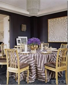 Designing with animal prints - aerin-lauders-dining-room-in-elle-decor.jpg