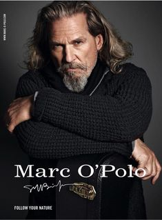 Amber Valletta and Jeff Bridges are the new faces of Marc O'Polo Jeff Bridges, Lloyd Bridges, Marken Outlet, Amber Valletta, The Big Lebowski, Mario Sorrenti, Famous Men, Famous Faces, Fashion Line