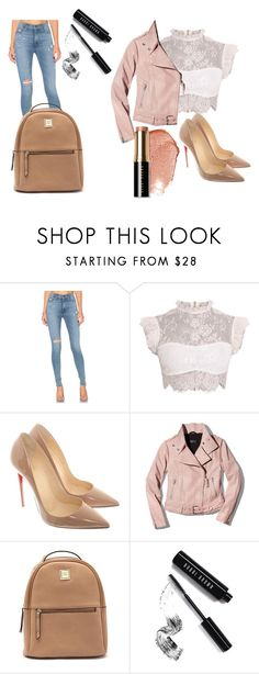 """""""Damn"""" by naturalbeautyxo16 on Polyvore featuring Hudson Jeans, Christian Louboutin, Mackage and Bobbi Brown Cosmetics"""