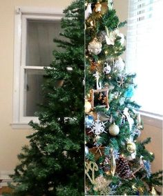 All the tips and tricks you'll need to give a cheap tree the look of an glamorous expensive one.