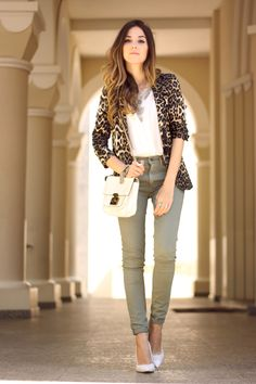 FashionCoolture - 14.09.2015 look du jour resolution denim Gap leopard blazer (1)