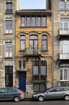 Architecture Art Nouveau, Types Of Architecture, Narrow House, Abandoned Places, Windows And Doors, Old Houses, Belgium, Scenery, Around The Worlds