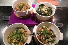 バンコクのホテルWの朝食で4種類のサラダを食べました。
