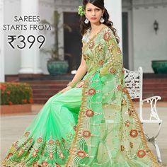Buy Designer Sarees for Women Online at best price in India.