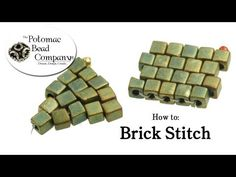 Video: Brick Stitch - Triangle with square beads by Potomacbeadco  ~ Seed Bead Tutorials