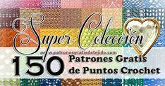 Catálogo de 150 puntos crochet Puntadas ganchillo con diagramas