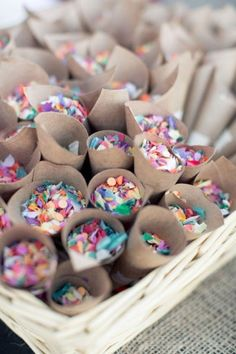 Spring Wedding Trends Give your guests confetti, sprinkles, or glitter. to throw instead of rice - - definitely want confetti or glitter or both for my wedding. Wedding Exits, Dream Wedding, Wedding Day, Wedding Blog, Rustic Wedding, Wedding Ceremony, Wedding Summer, Wedding Rice, Trendy Wedding