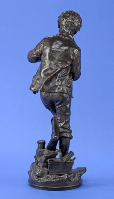 D´Astanieres, Clément 1841 Paris - 1917 Paris Pêcheur napolitain. Bronze. Signiert. Angel fehlt — Skulpturen, Möbel, Kunsthandwerk