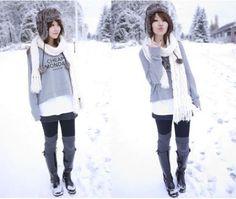 snowday fashion 10 Snow day, snow day! (28 photos)