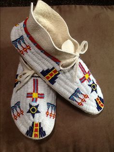 Moccasins made for custom order.  Made May 2013 SOLD