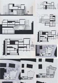 Peter Zumthor, Kolumba Art Museum section drawings.