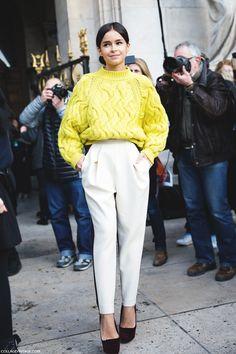 Paris_Fashion_Week_Fall_14-Street_Style-PFW-_Stella_McCartney-Miroslava_Duma-DelPozo-Yellow-5