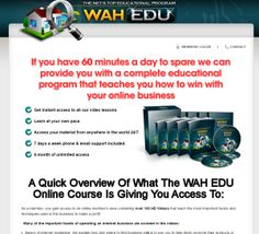 WAHEDU - The very first thing I noticed that didn't seem to be disclosed elsewhere on any other review for this company was the multiple websites promoting the exact same product only with a slight name change (institute, university, edu.) I kind of figured this would have been uncovered by someone else before now!  http://howtoearnalivingusingtheinternet.com/work-at-home-scams-work-at-home-edu-work-at-home-university-work-at-home-institute/