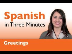 Learn Spanish - How to Greet People in Spanish