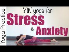 Yin Yoga for Anxiety & Stress - Restorative Gentle Yin Yoga (ft. my cat Cleo) {45 min} - YouTube