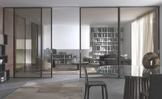 Sliding glass door for space and charm Timber Sliding Doors, Interior Sliding French Doors, Internal Sliding Doors, Sliding Door Design, Interior Barn Doors, Sliding Glass Door, Glass Doors, Grand Dressing, Cool House Designs