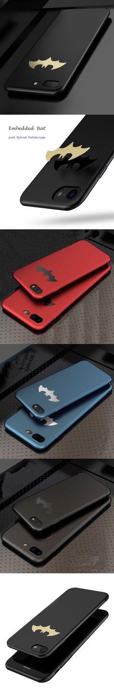 JiBan Batman Case For iPhone 6 6S Plus 7 Plus Cover Luxury Slim PC Phone Case For iPhone X 8 8 Plus Capa Matte Case Batman Cover
