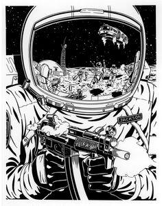 Cyberpunk - Far Side of the Moon by SteamPoweredMikeJ.deviantart.com on @DeviantArt