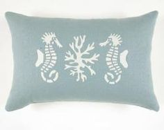 Designer Pillow - 2 Seahorses
