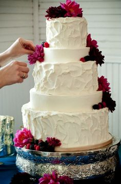 Considering making our wedding cake. I think I could do something like this.