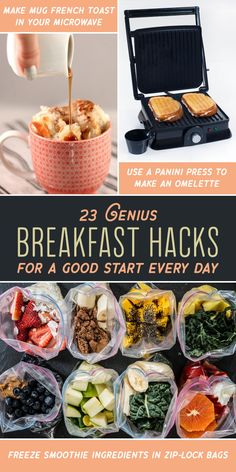 23 Genius Hacks That Will Change How You Eat Breakfast For a better breakfast, brunch, and brinner. Easy Cooking, Cooking Recipes, Healthy Recipes, Cooking Hacks, Detox Recipes, Healthy Foods, Brunch Recipes, Breakfast Recipes, How To Make Omelette