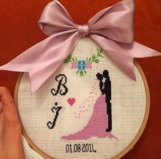 Hediye - aşk panosu - kanaviçe - çarpıişi- cross stitch - love - DIY - gift