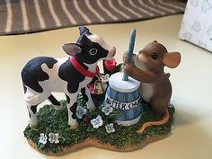 Fitz & Floyd Figurine I'm Butter Because Of You Charming Tails Mouse Calf, Box