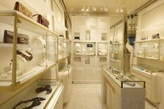 Photo taken by Women's Wear Daily of the Kara Ross New York boutique at 655 Madison Avenue.  #finejewelry #handbags #luxury