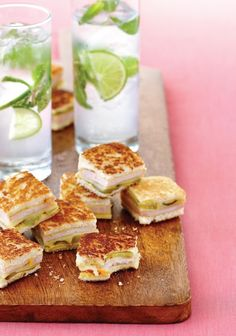 Instant party: Make like it's an Havana night and throw a soiree with these tall cool drinks and savoury golden squares