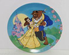 Walt Disney Beauty Beast Belle Princess Plate CollectorTheme Parks Vintage Japan