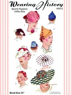 Wearing History Sporty Toppers 1930s hat pattern