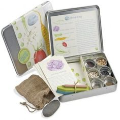 Stone Soup Gardening Kit. Everything needed for children to plant their very own colorful vegetable garden! $24.95