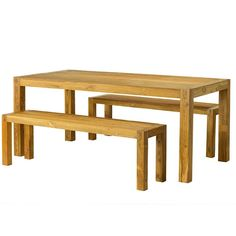 Adorn any dining room with this fabulous table and bench set from India. Handmade of reclaimed teak wood with a clear coat finish, this furniture will add a dash of old-world style to any decor.